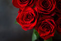 Bouquet Of Beautiful Red Roses On Black Background. Royalty Free Stock Photography - 72819787