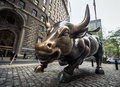 Charging Bull In The Financial District In Manhattan Royalty Free Stock Photos - 72823358