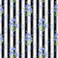 Floral Seamless Pattern, Cute Cartoon Flowers White Background Royalty Free Stock Photo - 72825525