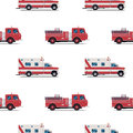 Seamless Pattern Of The Fire Engine And Ambulance. Royalty Free Stock Image - 72835636