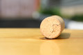 Old Wine Cork On The Light  Brown Table. Stock Image - 72865801
