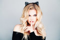 Sexy Woman With Cats Ears Royalty Free Stock Image - 72879966