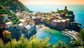 Panorama Of Vernazza Cinque Terre Stock Images - 72886214