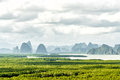 Sa-met-nang-shee View Point.The Most Famous View Point To See Andaman Sea , Mountain And Forest In Phang Nga Province,Thailand Royalty Free Stock Photography - 72890627