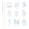 Set Of Vector Electronics Icons And Concepts In Mono Thin Line Style Stock Photos - 72890733