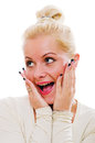 Portrait Of The Surprised Woman Royalty Free Stock Images - 27763119