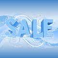 Winter sale banner Stock Image