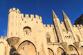 Avignon in Provence - View on Popes Palace Royalty Free Stock Photos