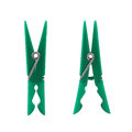Two green clothes peg Royalty Free Stock Photos
