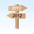 New Year 2013 sign. Stock Images