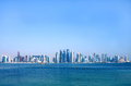 Beautiful view of Doha skyline, Qatar Royalty Free Stock Photo