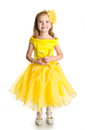 Portrait Of Cute Little Girl In Princess Dress Royalty Free Stock Images - 27778639