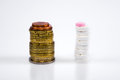Medicines and money Royalty Free Stock Photo