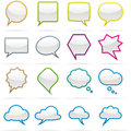 Speech bubble icon set Royalty Free Stock Photography