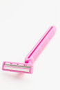 Pink razor blade Stock Photos