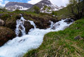 Rapid stream in mountains Stock Photography