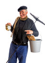 New Year chimney sweep Royalty Free Stock Images