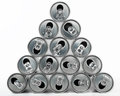 Beverage Cans Pyramid Royalty Free Stock Photography