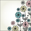 Vintage floral background with multicolored flower Royalty Free Stock Image