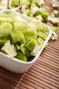Leek cut Royalty Free Stock Photography
