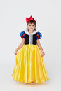 Snow White fancy dress Royalty Free Stock Images