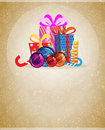 Christmas presents and ornaments Royalty Free Stock Image