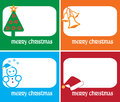 Christmas season gift tags Stock Photography