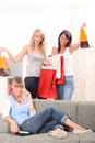 We went shopping! Royalty Free Stock Photo