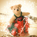 Cute Teddy Bear In Gift Box Royalty Free Stock Images - 7290529