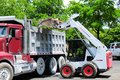 Loader Loading Truck In Florida Parking Lot Royalty Free Stock Photography - 72905047