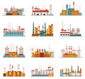 Industrial Plant And Factory Set Of Icons Stock Photos - 72911183