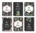 Set Of Wedding Invitations, Save The Date Card Templates Royalty Free Stock Photos - 72923678