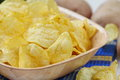 Potato Chips In Bowl Royalty Free Stock Photography - 72925017
