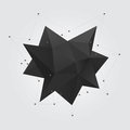 Black Polygonal Geometric Abstract Shape Figure. Low Poly Abstract Geometry Shape 3d Star. Royalty Free Stock Images - 72932829