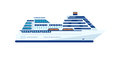 Illustration Of Cruise Ship Isolated, Side View Of Cruise Ship On White Background Royalty Free Stock Images - 72934329