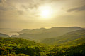 View Of The Sunset From Inasayama Mountain In Nagasaki, Japan. Royalty Free Stock Photography - 72975237