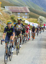The Peloton In Mountains - Tour De France 2015 Royalty Free Stock Images - 72975759