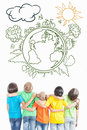 Multiracial Children Looking On Clean, Not Polluted Planet Earth Stock Images - 72977294