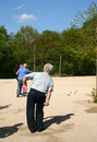 Men Playing Petanque Royalty Free Stock Photography - 734437