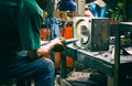 Workers In The Steel Industry Royalty Free Stock Photo - 73001545