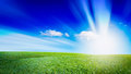 Open Grassland Landscape And Sky. Outdoor Grass Natural Background Stock Image - 73027241