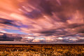 Timelapse Movement Of Clouds Across Marshland Stock Image - 73033461