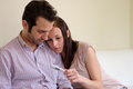 Lovers Couple Scared After Pregnancy Test Stock Photography - 73046552
