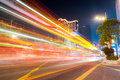 Light Trails On The Street Stock Photography - 73066982
