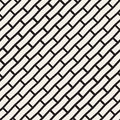 Vector Seamless Black And White Brick Pavement Diagonal Lines Pattern Stock Photography - 73071542