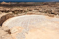 PAPHOS, CYPRUS/GREECE - JULY 22 : Ancient Mosaic Near The House Royalty Free Stock Image - 73077926