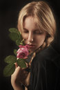 Girl With Rose Royalty Free Stock Photography - 73078517