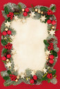 Christmas Floral Border And Decorations Stock Photo - 73085440