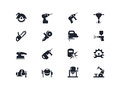Electric Work Tools Icons. Lyra Series Stock Images - 73085484