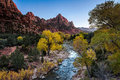 Virgin River At Sunset Stock Images - 73085584